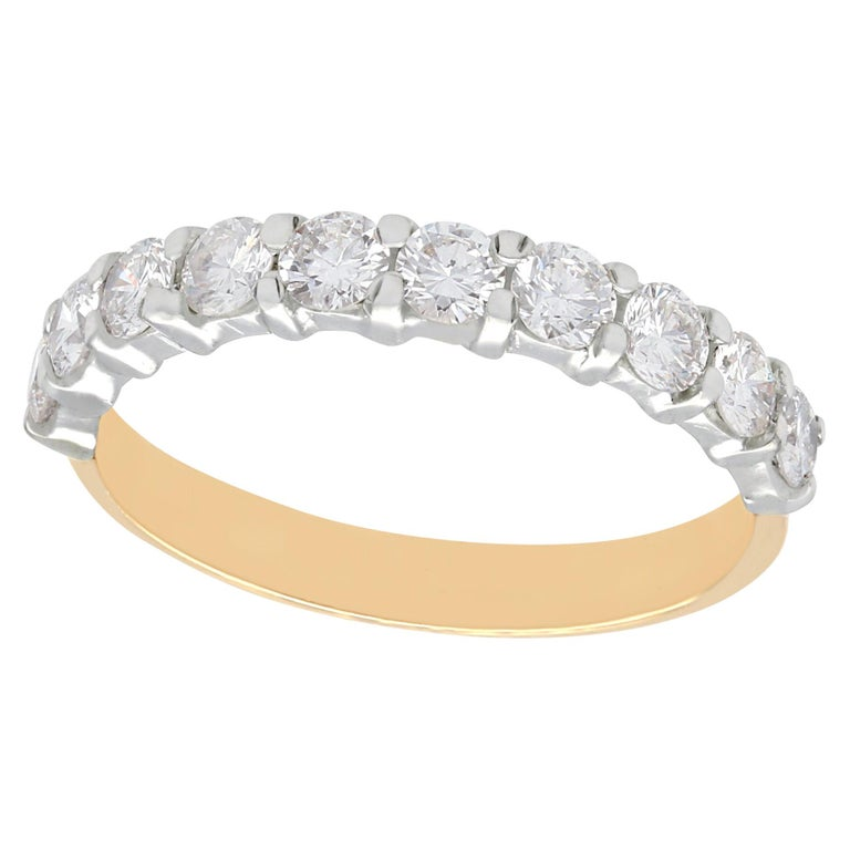 0.35Carat Round and Baguette Cut Half Eternity Wedding Ring in 9K White Gold