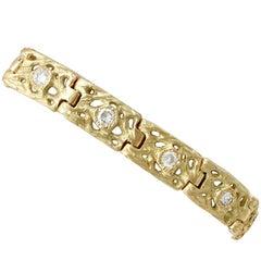 1990s 2.10 Carat Diamond and Yellow Gold Bracelet