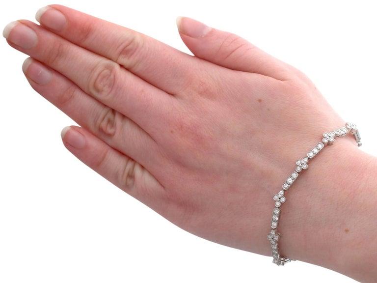 1990s 3.30 Carat Diamond and White Gold Bracelet For Sale 6
