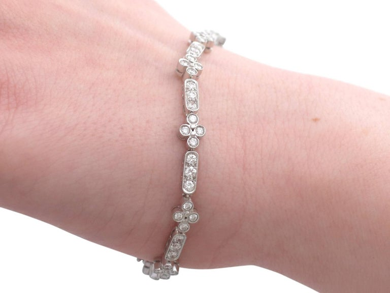 1990s 3.30 Carat Diamond and White Gold Bracelet For Sale 7