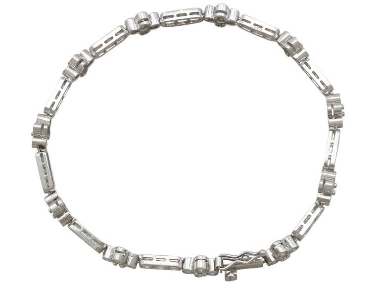 Women's 1990s 3.30 Carat Diamond and White Gold Bracelet For Sale