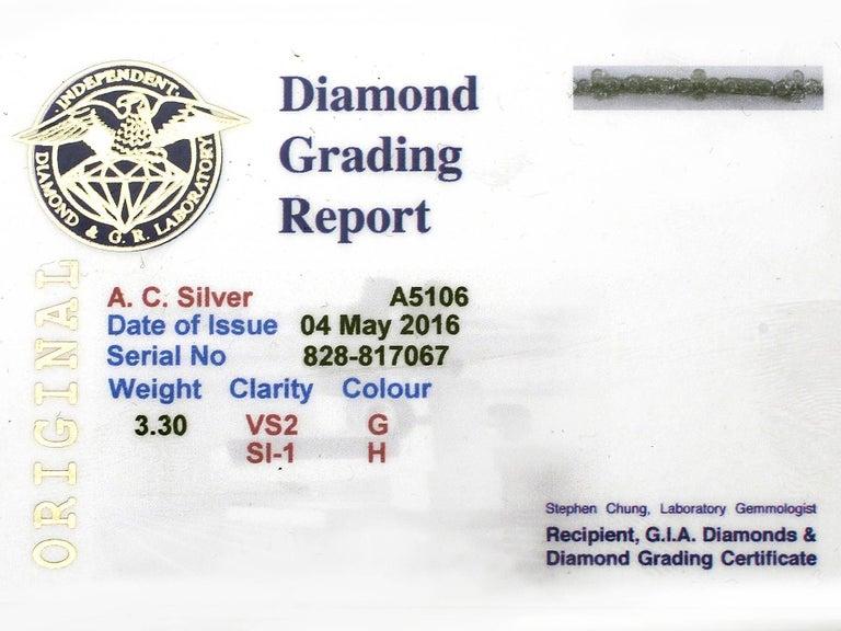 1990s 3.30 Carat Diamond and White Gold Bracelet For Sale 5