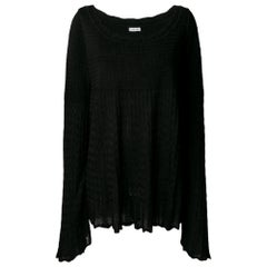 1990s Alaïa Black Long Sweater
