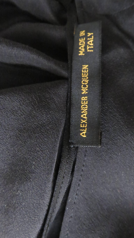 Alexander McQueen New Silk Dress with Ruffles S/S 1999 For Sale 6