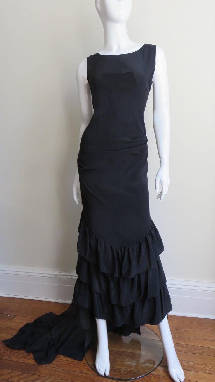 Alexander McQueen New Silk Dress with Ruffles S/S 1999 For Sale 1