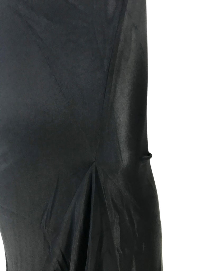1990s Ann Demeulemeester form fitting gown with kick pleat For Sale 1