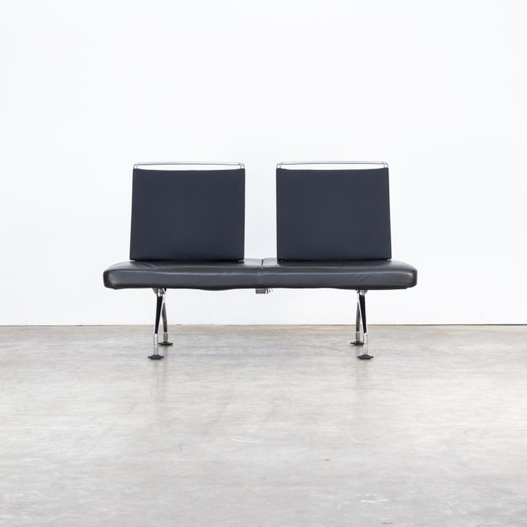 1990s Antonio Citterio 'Area' sofa for Vitra. Good condition consistent with age and use, Minor wear marks, scratches in the leather see photo.