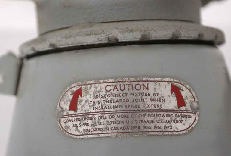 1990s Appleton A-51 Series Industrial Explosion Proof Ceiling Light In Good Condition For Sale In New York, NY
