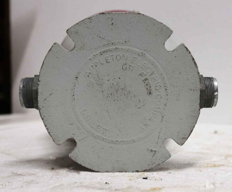 Glass 1990s Appleton A-51 Series Industrial Explosion Proof Ceiling Light For Sale