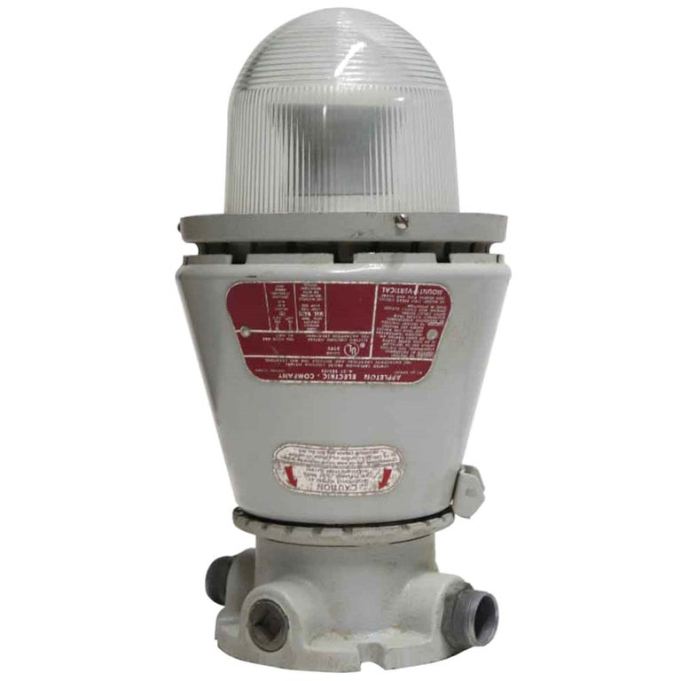 1990s Appleton A-51 Series Industrial Explosion Proof Ceiling Light For Sale