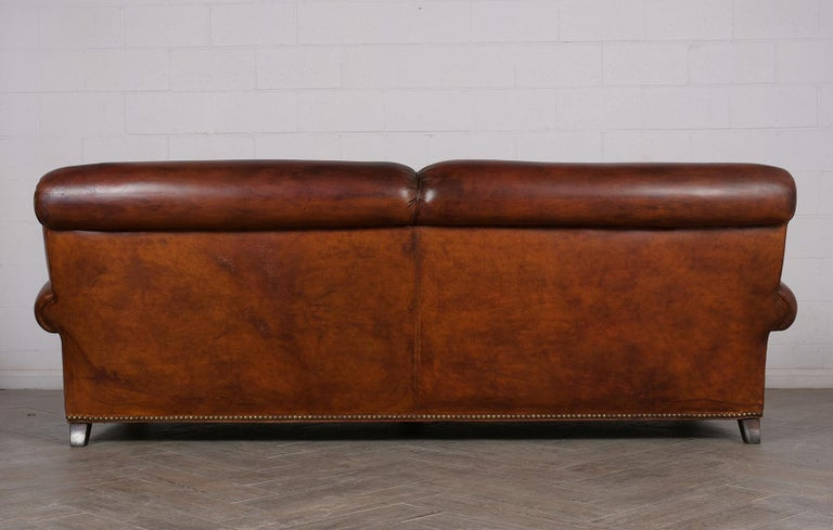 Art Deco Leather Sofa For Sale 3