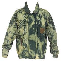 1990s Avanti vintage Green bomber jacket