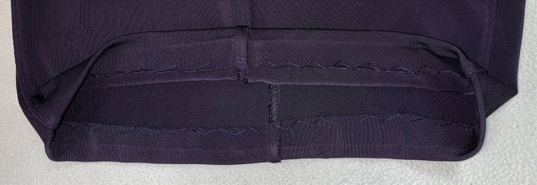 Women's 1990's Azzedine Alaia Dark Purple Strappy Bodycon Wiggle Mini Dress For Sale
