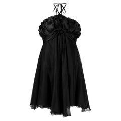 1990s Black Layered Dress