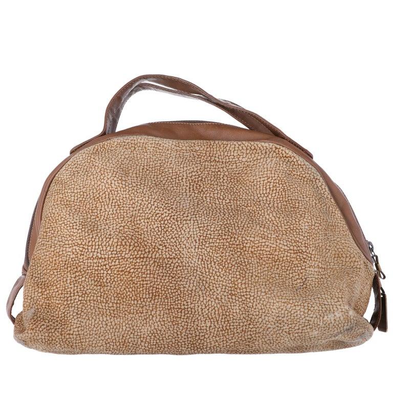1990s Borbonese Half-Moon Shape Handbag In Fair Condition For Sale In Lugo (RA), IT