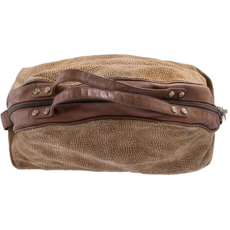 Women's 1990s Borbonese Half-Moon Shape Handbag For Sale