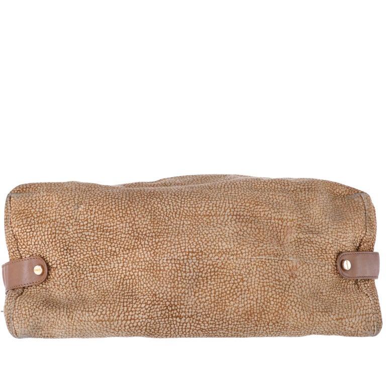 1990s Borbonese Half-Moon Shape Handbag For Sale 1