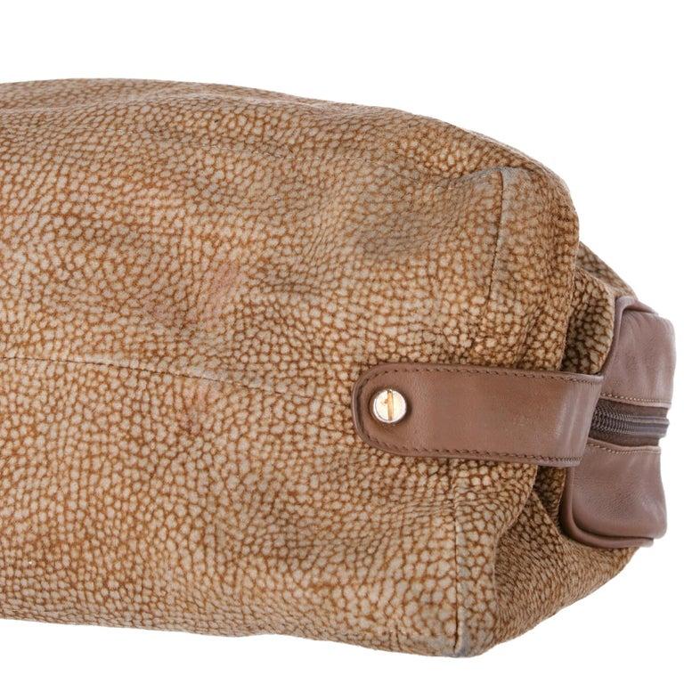 1990s Borbonese Half-Moon Shape Handbag For Sale 2