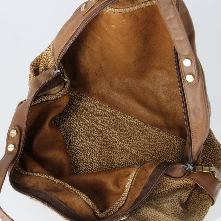 1990s Borbonese Half-Moon Shape Handbag For Sale 3