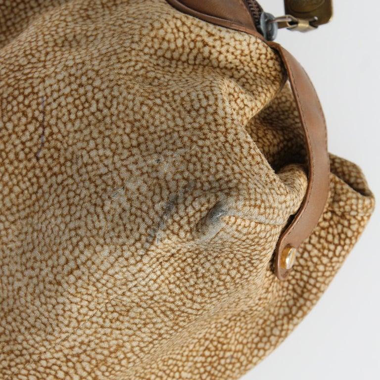 1990s Borbonese Half-Moon Shape Handbag For Sale 4