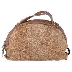 1990s Borbonese Half-Moon Shape Handbag
