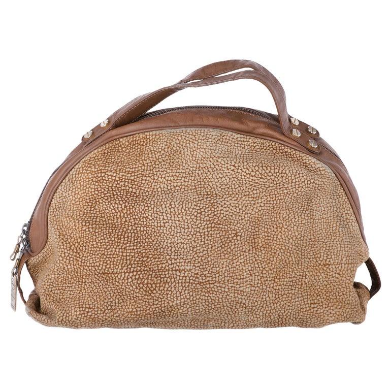 1990s Borbonese Half-Moon Shape Handbag For Sale