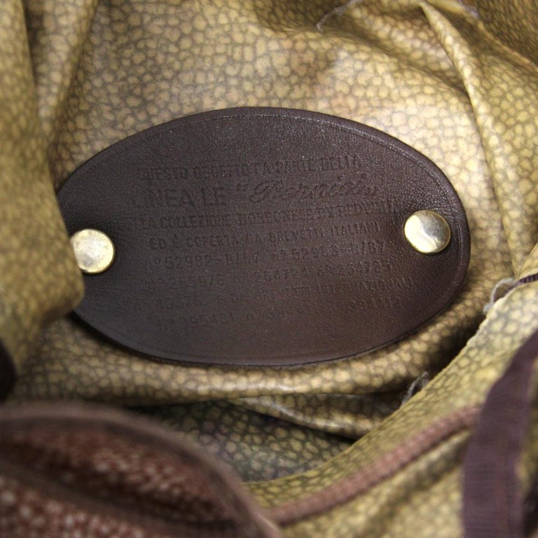 1990s Borbonese Jet Op Bucket Bag For Sale 3
