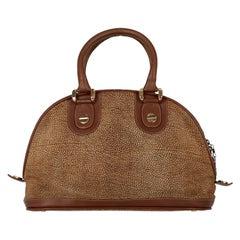 1990s Borbonese Suede Handbag