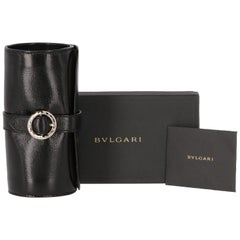 1990s Bulgari Black Leather Watch Roll
