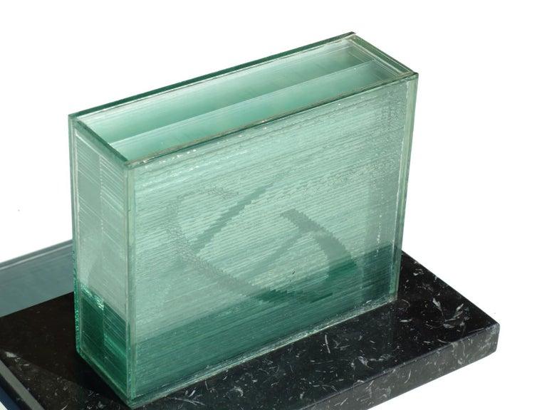 Japanese 1990s by Izumi Oki Modern Art Crystal Sculpture For Sale