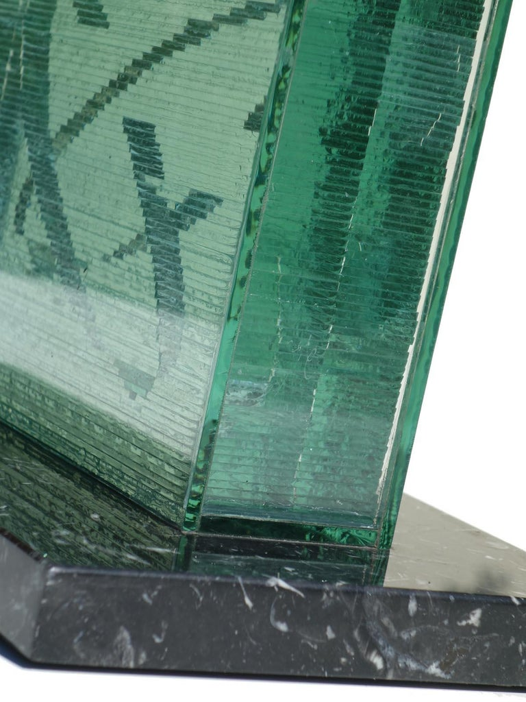 1990s by Izumi Oki Modern Art Crystal Sculpture In Excellent Condition For Sale In Brescia, IT