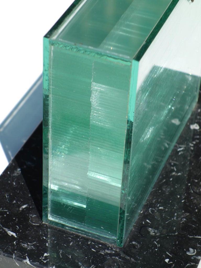 1990s by Izumi Oki Modern Art Crystal Sculpture For Sale 1