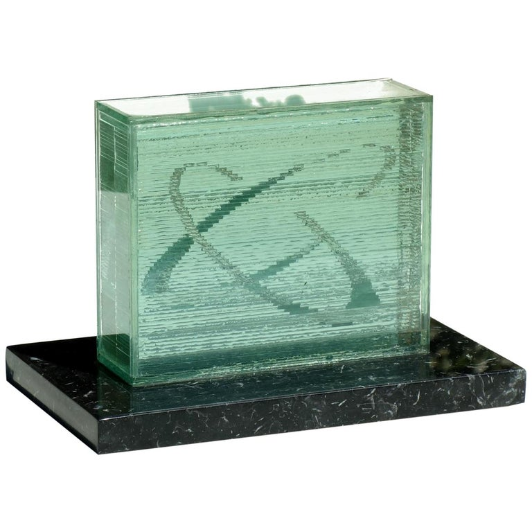 1990s by Izumi Oki Modern Art Crystal Sculpture For Sale