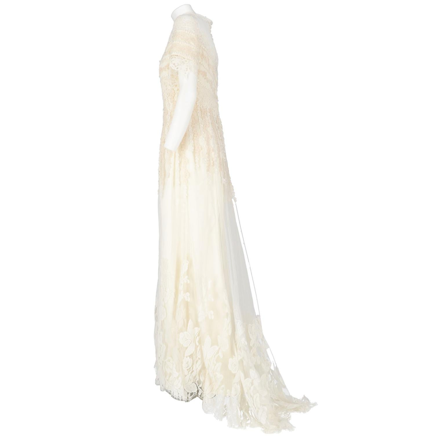 1990s Cailand Lace Wedding Dress For Sale At 1stdibs