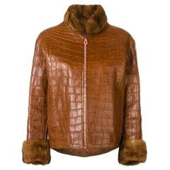 1990s Carlo Tivioli Leather And Fur Jacket