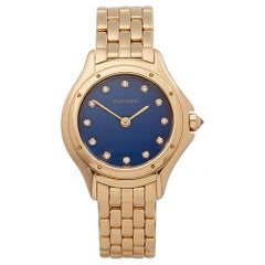 1990s Cartier Panthère Cougar Yellow Gold 1171 Wristwatch