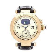 1990s Cartier Pasha de Cartier Moonphase Wristwatch