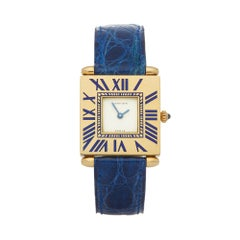 1990s Cartier Quadrant Yellow Gold Wristwatch