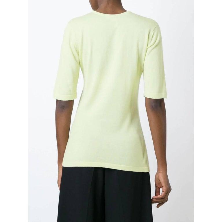 Beige 1990s Céline Mint Green Knit Top For Sale