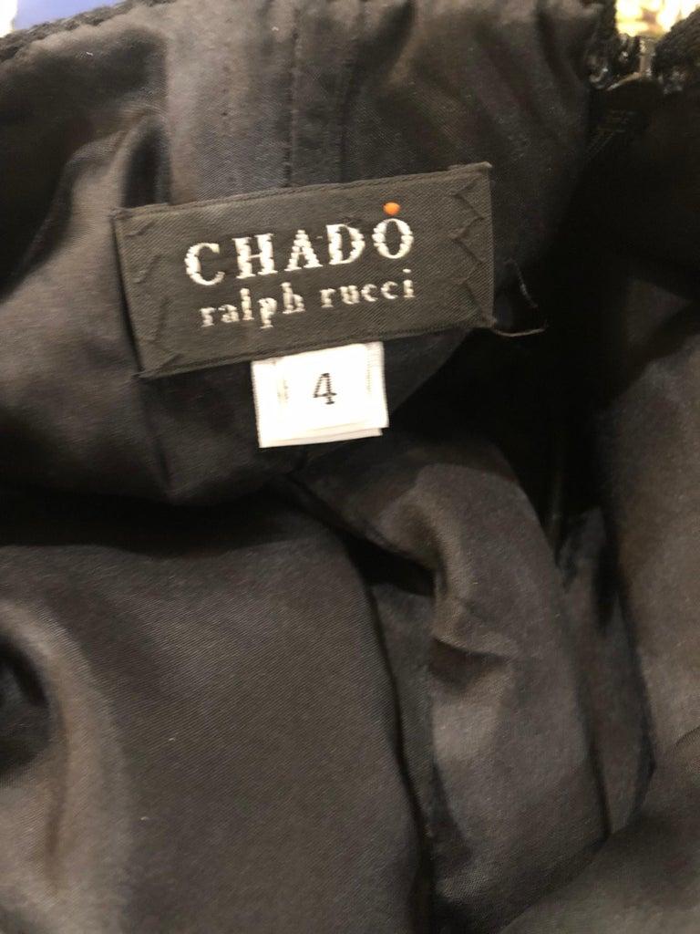 Women's 1990s Chado Ralph Rucci Rare Black Wool ' Bondage ' Vintage 90s Dress Size 4  For Sale
