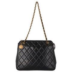 1990s Chanel 36 cm Black Bag