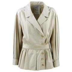 1990s Chanel Beige Cotton Vintage Jacket