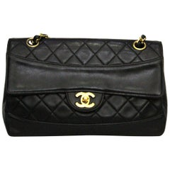 1990s Chanel Black Leather 2.55 Vintage Bag