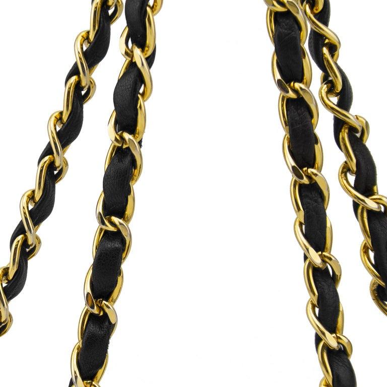 1990s Chanel Black Leather Mini Flap Bag  For Sale 3