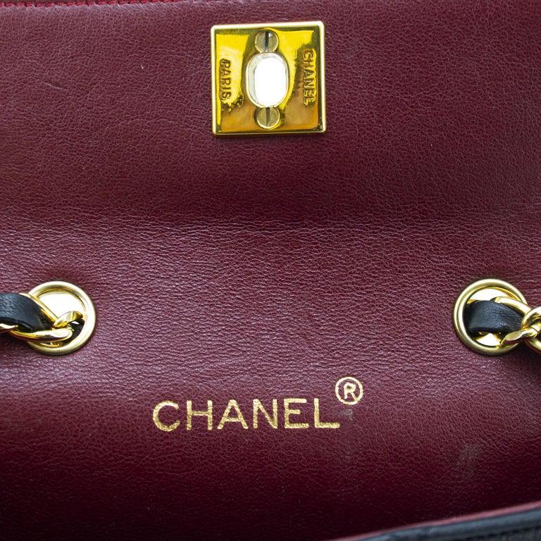 1990s Chanel Black Leather Mini Flap Bag  For Sale 4