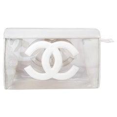 1990s Chanel 'CC' Clear PVC Clutch