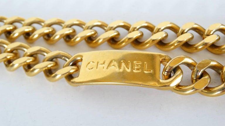 Chanel Chain Link Medallion Belt, 1990s   For Sale 6