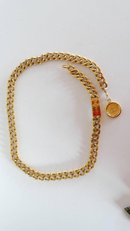 Chanel Chain Link Medallion Belt, 1990s   For Sale 7