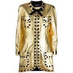 1990s Chanel Golden Leather Jacket