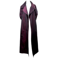 1990's CHANEL iridescent violet silk evening coat